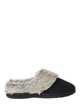 Nine West Women's Microsuede Clog with Pile Cuff Slippers