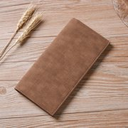 Men Long Section Bifold Business fashion Leather Wallet Card Coin Wallet Purse