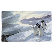 Wild Wings Penguins 2 Beach Towel White 36X58