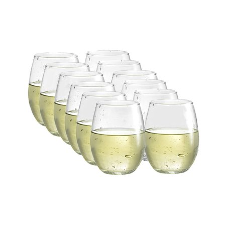 Luminarc 12-piece Stemless Wine Glasses Boxed Set - Wine Glass Wedding Favors