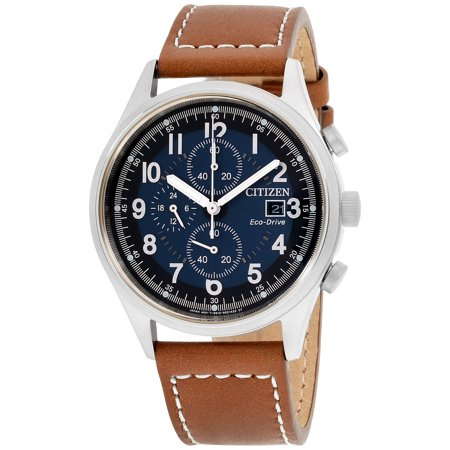 Eco-Drive Chandler Leather Chronograph Mens Watch CA0621-05L ()