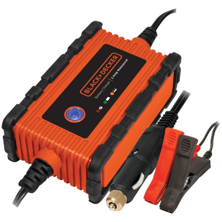 BLACK + DECKER 2 Amp Waterproof Battery Charger/Maintainer (BC2WBD) (Black Decker Car Battery Charger)
