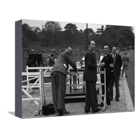 British racing driver Goldie Gardner at the Imperial Trophy race, Crystal Palace, 1939 Stretched Canvas Print Wall Art By Bill