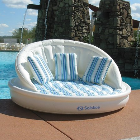 (Swimline Solstice Inflatable 3-Person AquaSofa Float Raft With Pump | 15135HR)