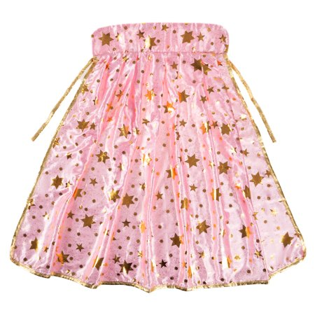 Princess Cape-Pink and Gold with Star Detail-Pretty Pretend Play Dress Up Accessories by Hey! Play!