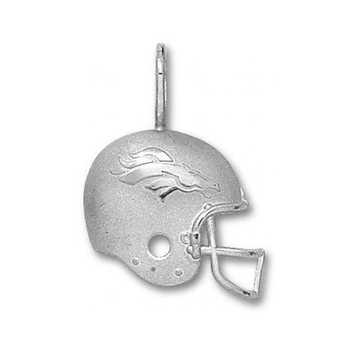 NFL - Denver Broncos Sterling Silver Helmet Pendant