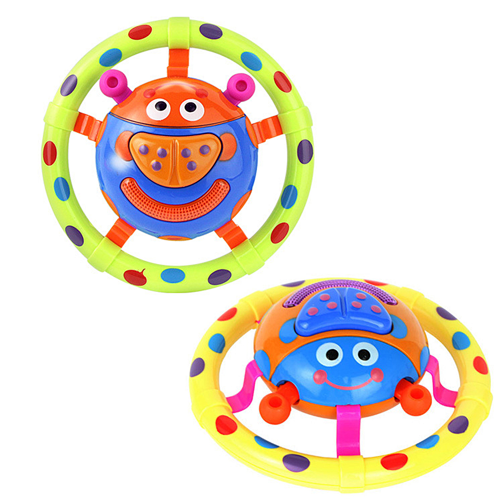 Girl12Queen Cute Ladybug Grasping Musical Toy Hearing Sound Light Child Baby Educational Gift