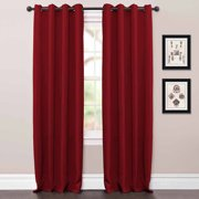 Jamel Red Window Curtain, Pair