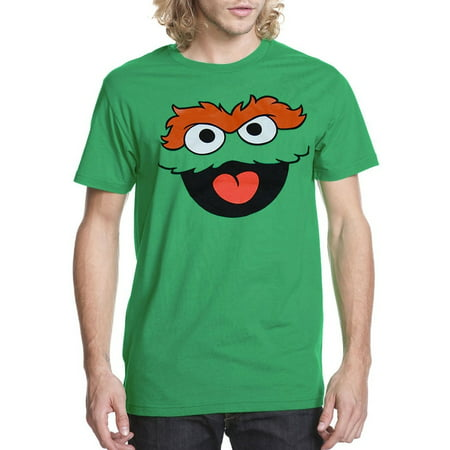 Oscar The Grouch Face Adult T-Shirt
