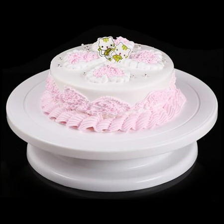 Plastic Cake Decorating Turntable Revolving Rotating Table Round Anti-slip Cake Decorative Plate Round Display Stand Cake Tray Kitchen Gadget DIY Baking