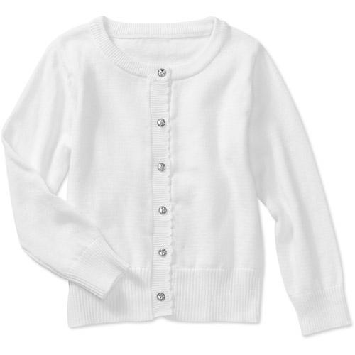 Healthtex Baby Girls Rhinestone Button Cardigan Walmartcom