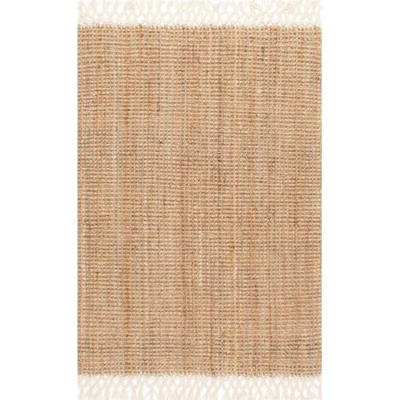nuLOOM Hand-Woven Raleigh Area Rug or Runner 8' Natural Wool Runner
