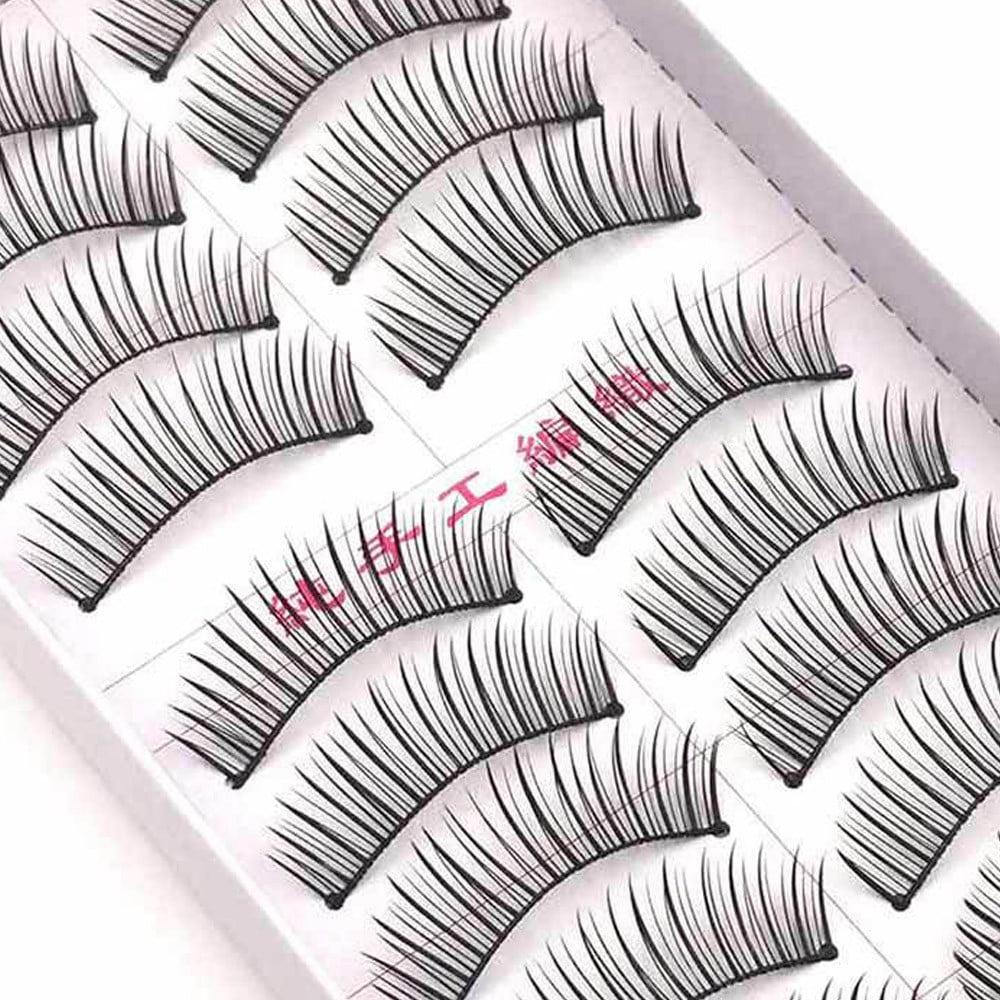 Tuscom 10 Pairs Double False Eyelashes Natural Thick Crossed Bare Makeup