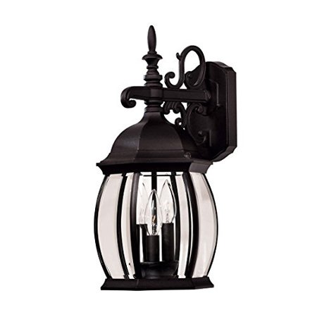 Savoy House Exterior Collections 3-Light Wall Lantern in Black (Blk Exterior Collections)