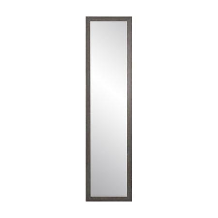 BrandtWorks Rectangular Charcoal Gray Slim Floor (Slim Mirror)