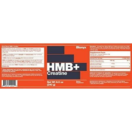 Blonyx Hmb + Créatine. 240g, 1Mo. La fourniture