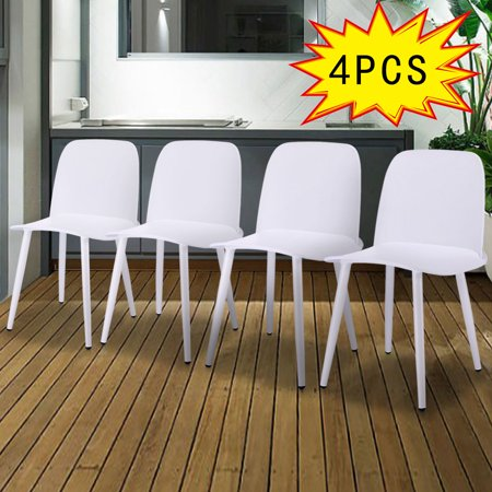 Amazing Jaxpety Set Of 4 Side Dining Chairs Lounge Modern Accent Chair Body Engineering Design For Reception Room White Caraccident5 Cool Chair Designs And Ideas Caraccident5Info