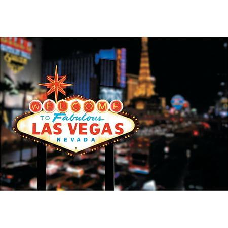 Welcome To Las Vegas Scene Casino Backdrop Banner Decoration Photo Booth (3pcs) - Las Vegas Decorations