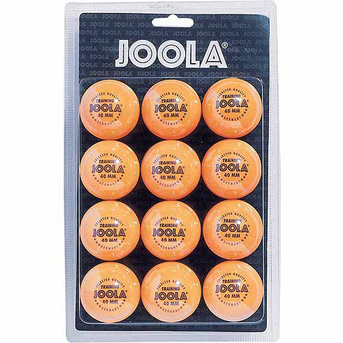 JOOLA 40mm 1-Star Table Tennis Training Balls (12 Count) - Orange