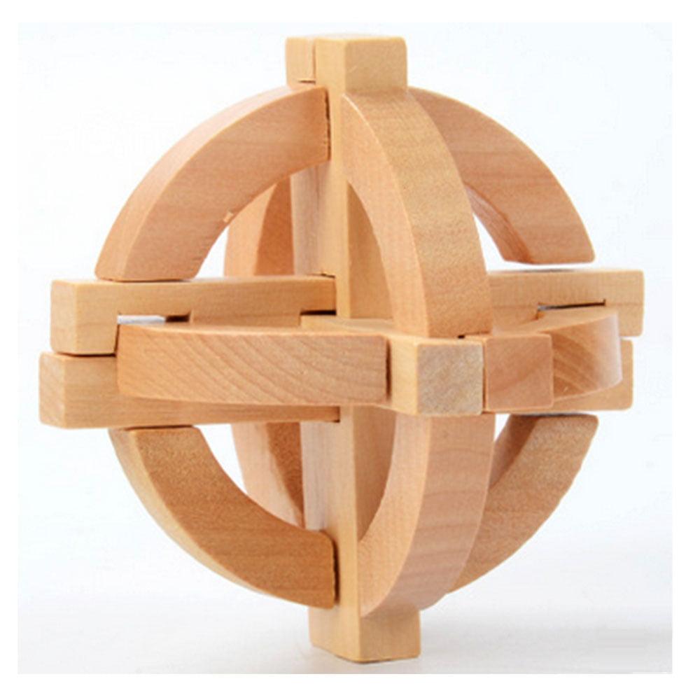 DIY Figure Building Wooden Block Toys Kong Ming Lock Intellectual Creative