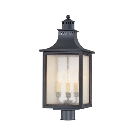 Outdoor Post 3 Light With Slate Finished Candelabra Base Bulbs 10 inch 180 - Slate Post Accessories