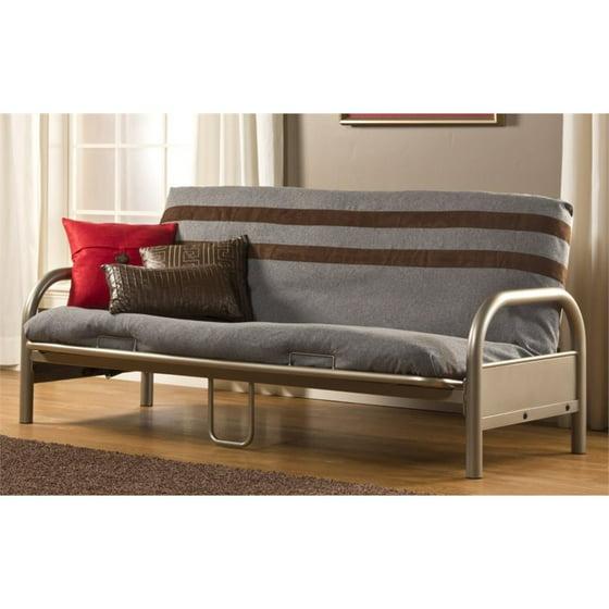 hillsdale geneva full futon frame in pewter
