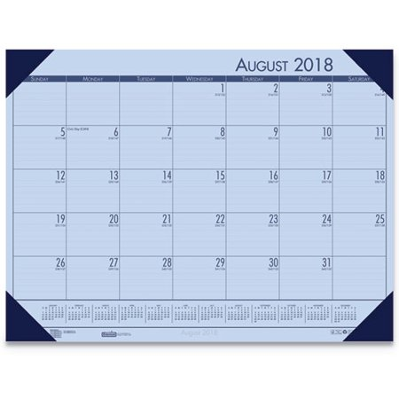 House of Doolittle 1589030 Academic Desk Pad, 2018 to 2019, Orchid - 18.5 x 13 - Desk Pad House