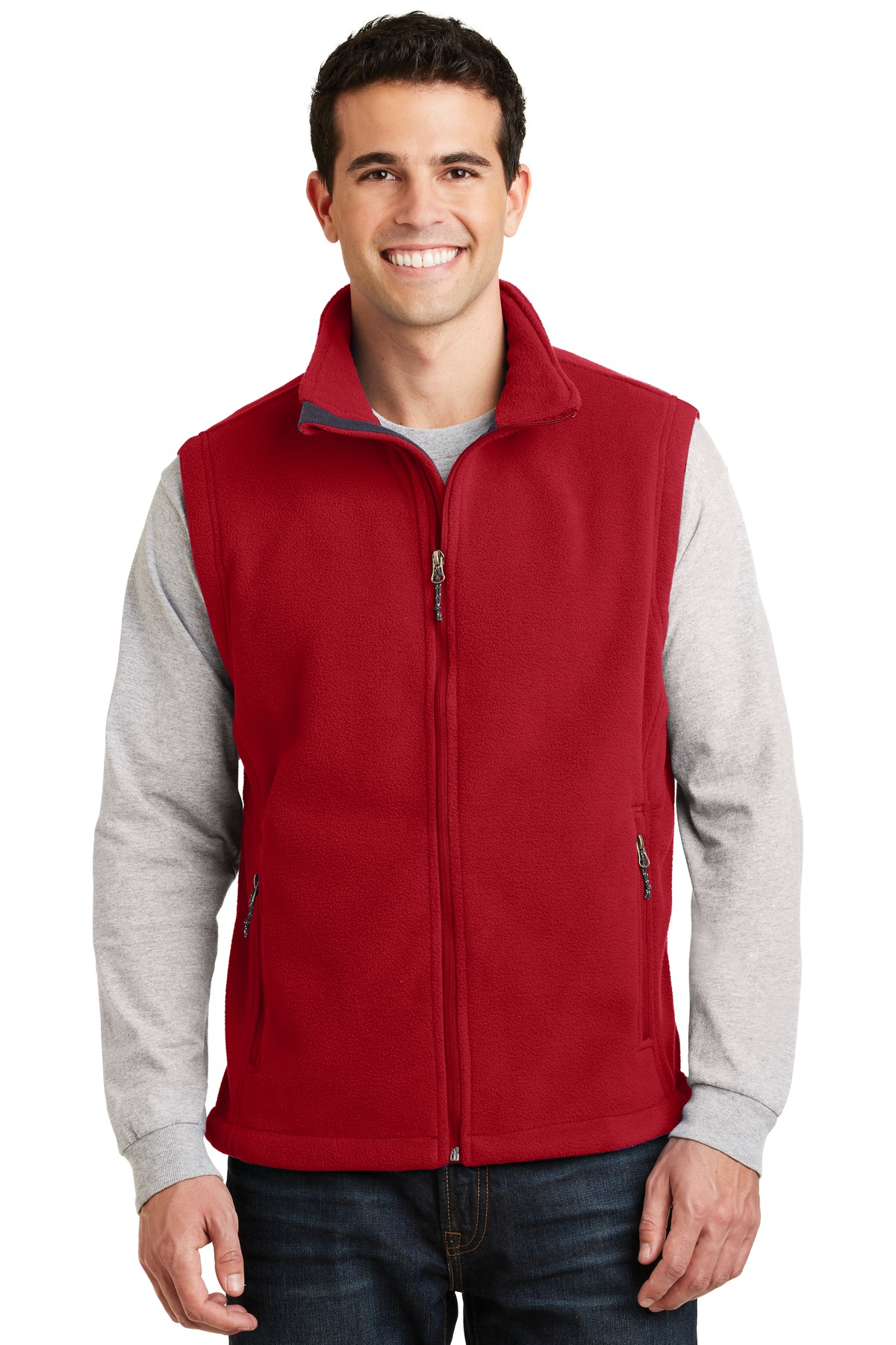 Port Authority Mens Super Soft Fleece Adjustable Vest