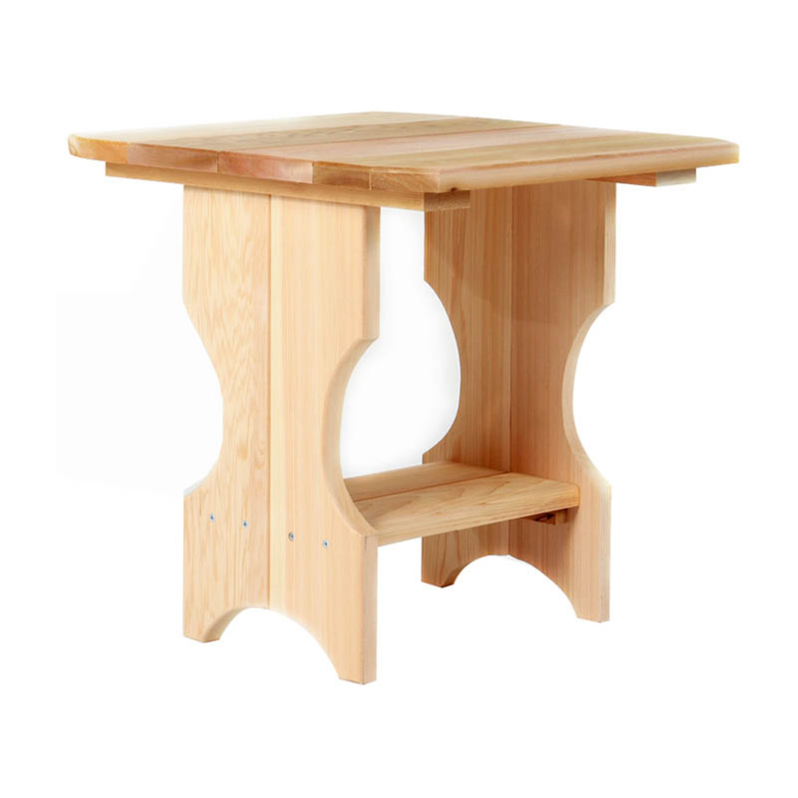 All Things Cedar Outdoor Magazine Rack Side Table - Western Red Cedar