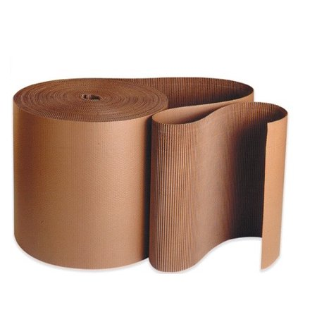Uboxes Corrugated Wrap, 36 in x 250 ft x 1/8 in Thick, B Flute, Brown