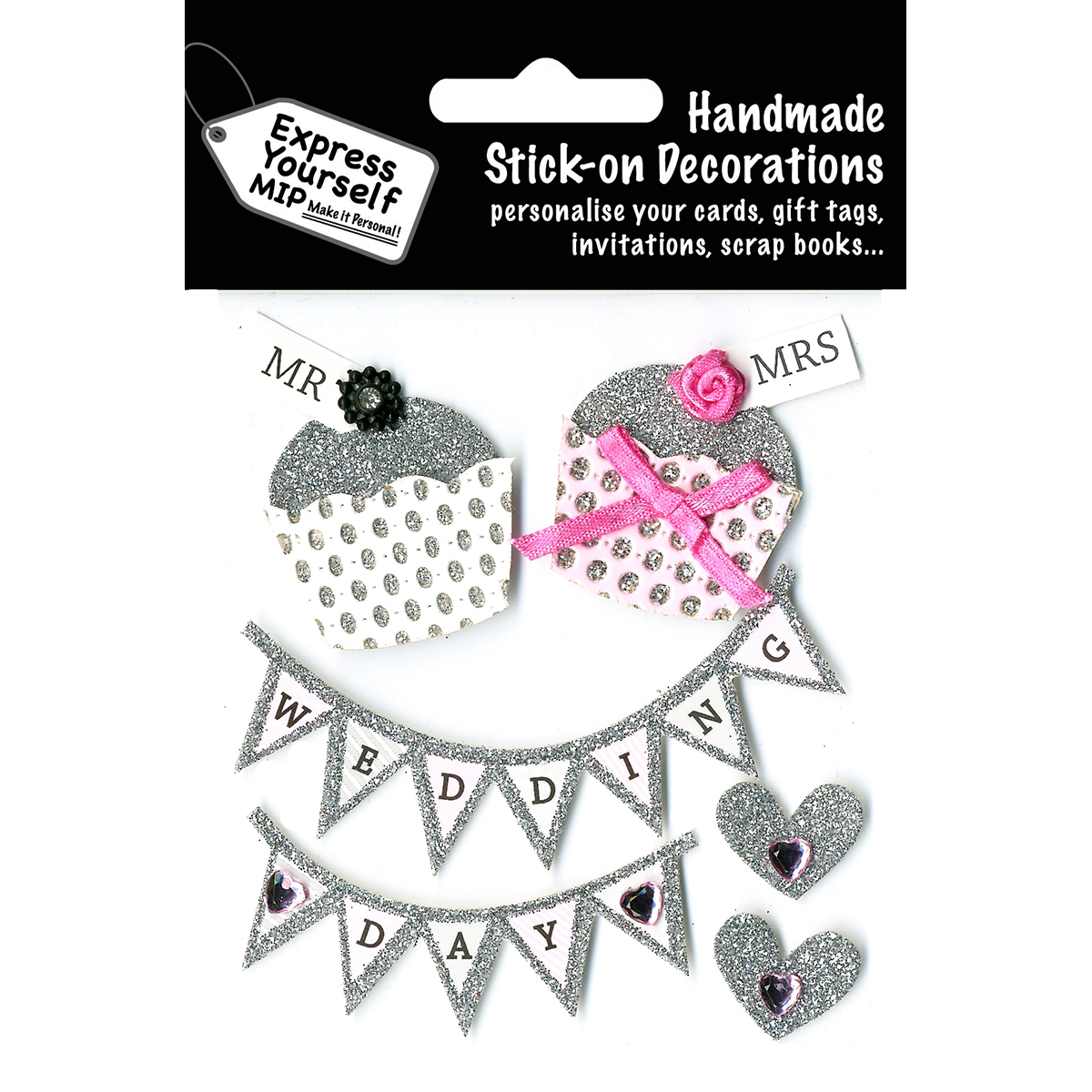 Express Yourself MIP 3D Stickers-Wedding Day - Fairy Cakes