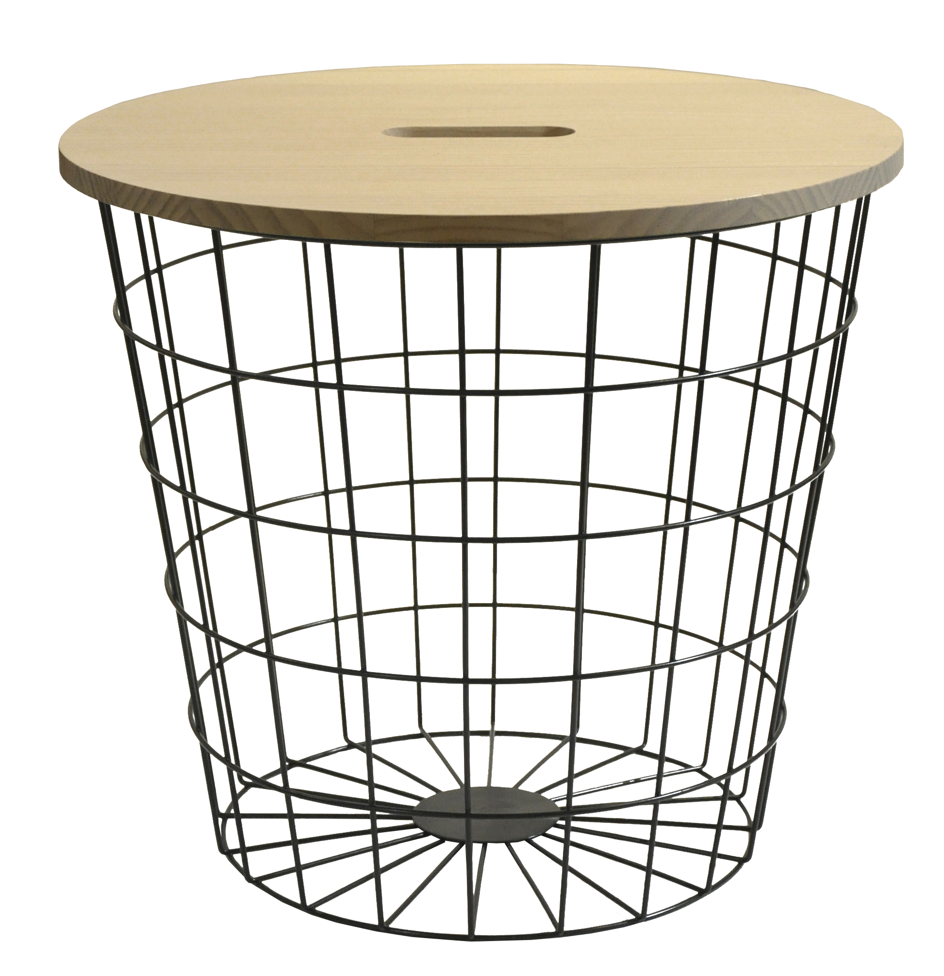 Urban Shop Wire Storage Table with Removable Wooden Top, Multiple Colors
