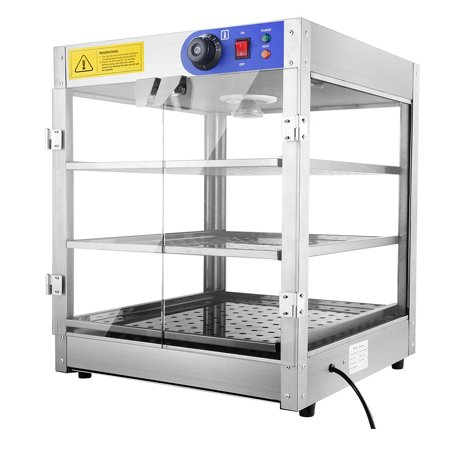 Yescom 110V Commercial Countertop Heating Food Pizza Warmer 750W 24X20x20   Pastry Display Case