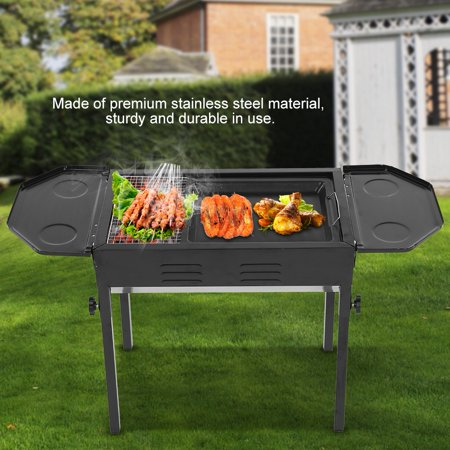 Anauto Stainless Steel Foldable Barbecue Grill BBQ Stove Charcoal Grill Black,Barbecue Grill, BBQ Stove