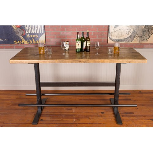 Napa East Collection Industrial Iron And Reclaimed Wood Pub Table
