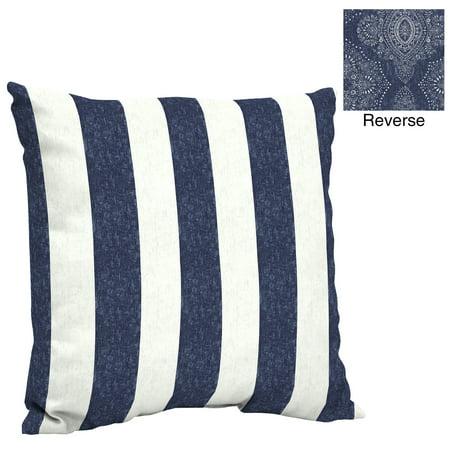 Better Homes & Gardens Blue Pointelized Ogee Stripe 24