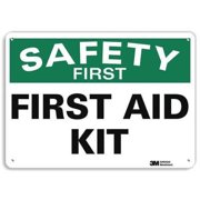 LYLE U7-1199-RA_14X10 Safety Sign, Reflective Alum, 10inHx14inW