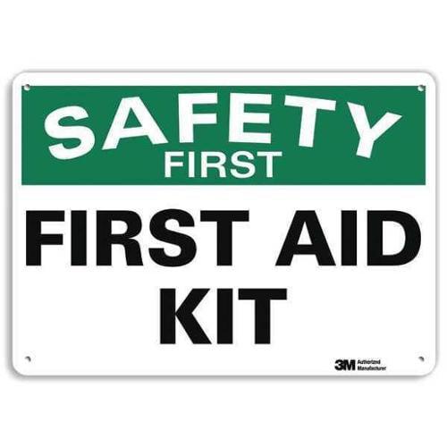 LYLE U7-1199-RA_14X10 Safety Sign, Reflective Alum, 10inHx14inW