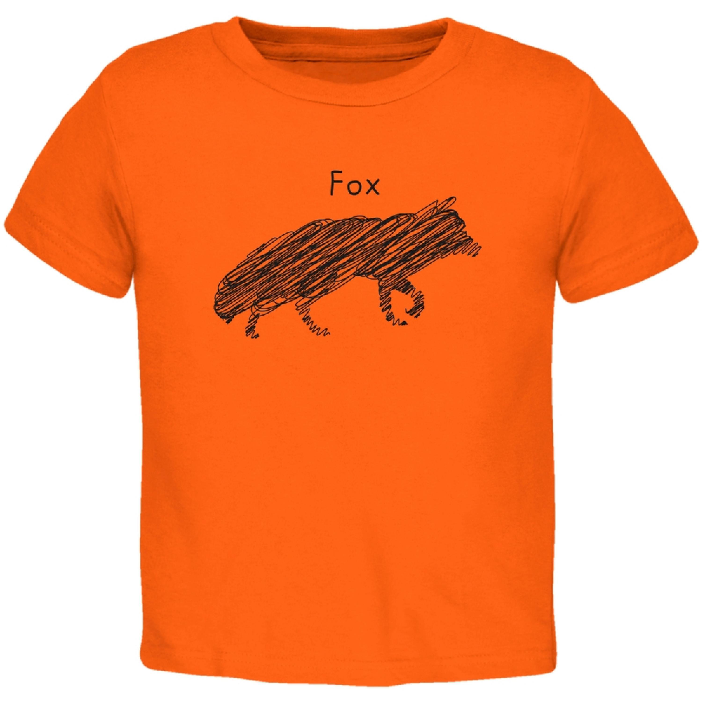 Fox Scribble Drawing Orange Toddler T-Shirt