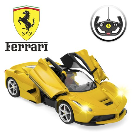 Best Choice Products 27 MHz 1/14 Scale Kids Licensed Ferrari Model Remote Control Play Toy Car w/ Functioning Headlights, Taillights, Doors, 5.1 MPH Max Speed -