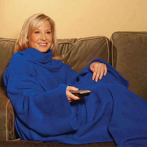 Trademark Royal Blue Authentic Snuggie Blanket with Sleeves