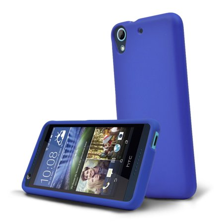 HTC Desire 626 Case, [Standard Blue] Slim & Protective Rubberized Matte Finish Snap-on Hard Polycarbonate Plastic Case Cover