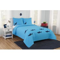Better Homes & Gardens Kids Blue Shark Quilt Set