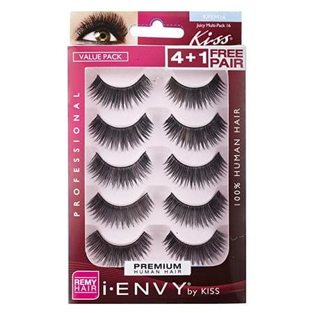 Kiss I Envy Juicy Volume 16 Value Pack 4+1 Lashes ()