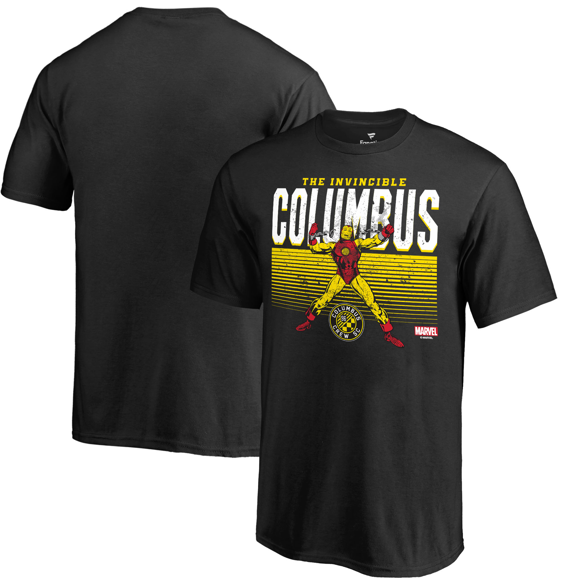 Columbus Crew SC Fanatics Branded Youth MLS Marvel Iron Man Invincible T-Shirt - Black