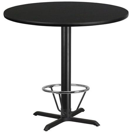 "Flash Furniture 42"" Round Laminate Top Pub Table in Walnut - image 2 de 4"