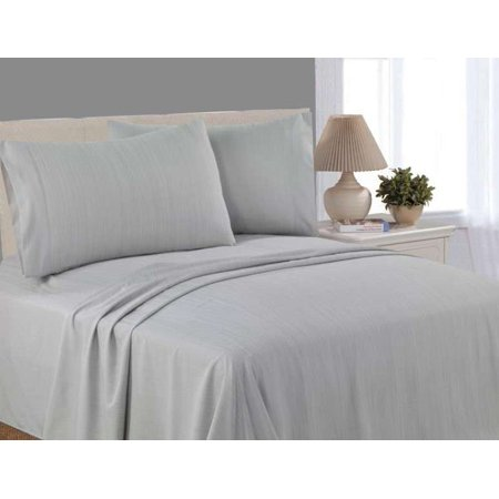 Mainstays Microfiber Pillowcase Set, King, Grey Stria