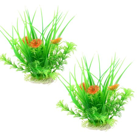 Unique bargains unique bargains 2 pcs ceramic base green artificial unique bargains unique bargains 2 pcs ceramic base green artificial plants grass 67 for fish workwithnaturefo