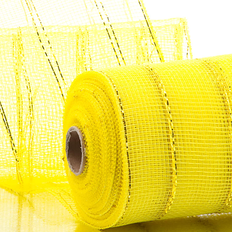 """2 1/2"""" X 20 Yards Red /Gold Two Tone Deco Mesh  by Paper Mart"""