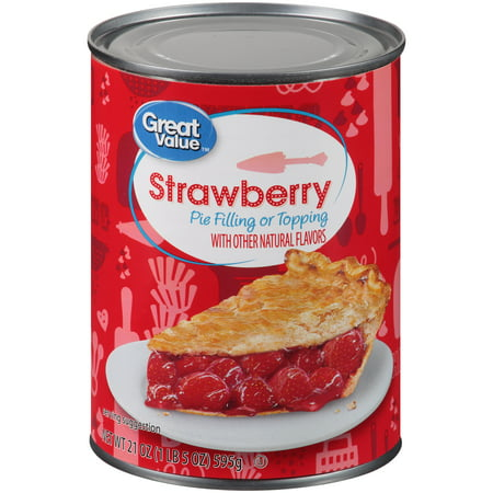 (2 Pack) Great Value Pie Filling or Topping, Strawberry, 21 (Cigarillos Strawberry)